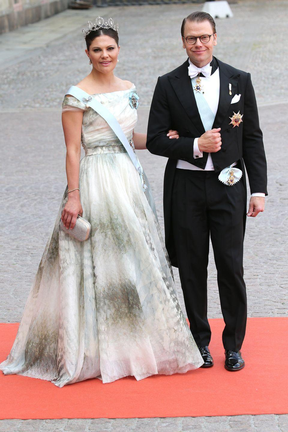 <p>Not all Cinderella stories mean that a woman gets swept off her feet by a prince, and such was the case of Crown Princess Victoria of Sweden's marriage to her former personal trainer Daniel Westling. The pair wed in Stockholm in 2010, and Westling's new royal title became Prince Daniel, Duke of Västergötland. </p>