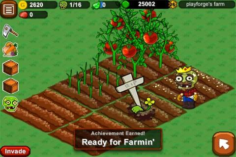 Zombie Farm in action