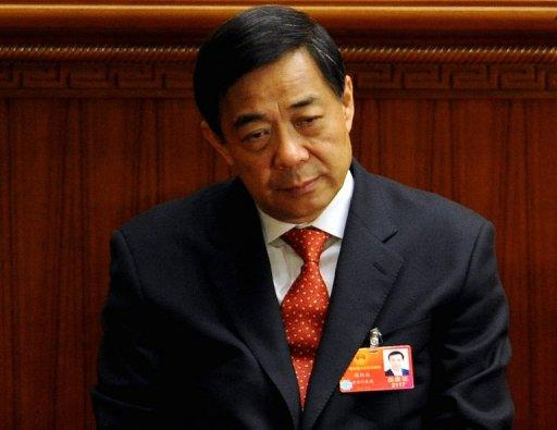 Former Chinese official Bo Xilai is seen in Beijing in March. Bo's wife was last month convicted of murdering a British businessman in a scandal that rocked the Chinese leadership. Now that elite has been hit by a fresh scandal ahead of a 10-yearly power handover, with reports a close ally of the president was demoted following his son's death in a Ferrari crash
