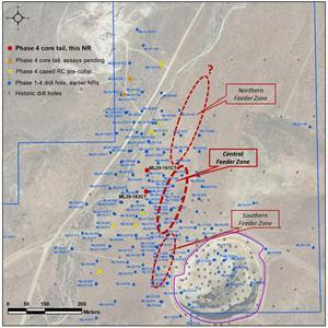 Location Drill Map at the Mother Lode Project, drill holes ML20-161CT & 162CT