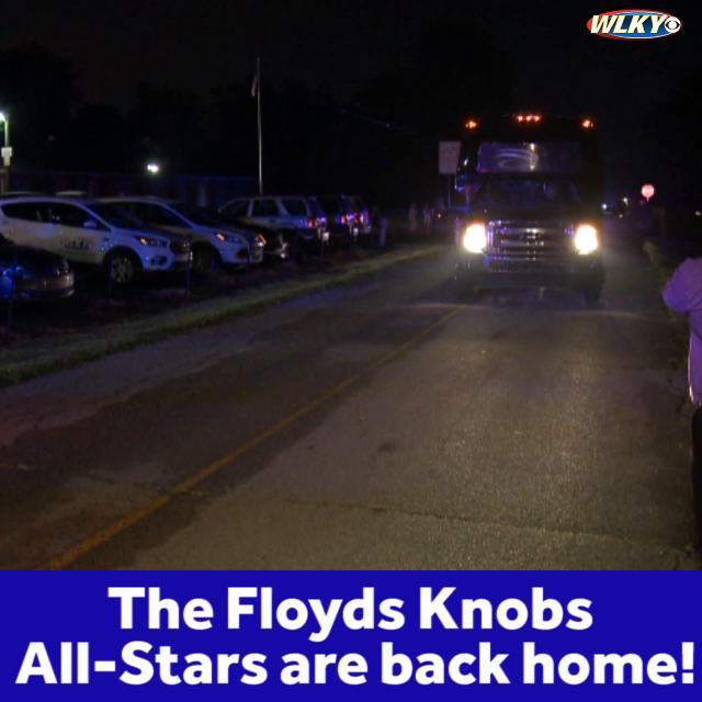 The Floyds Knobs  All-Stars returned home after finishing third in the Little League Softball World Series!