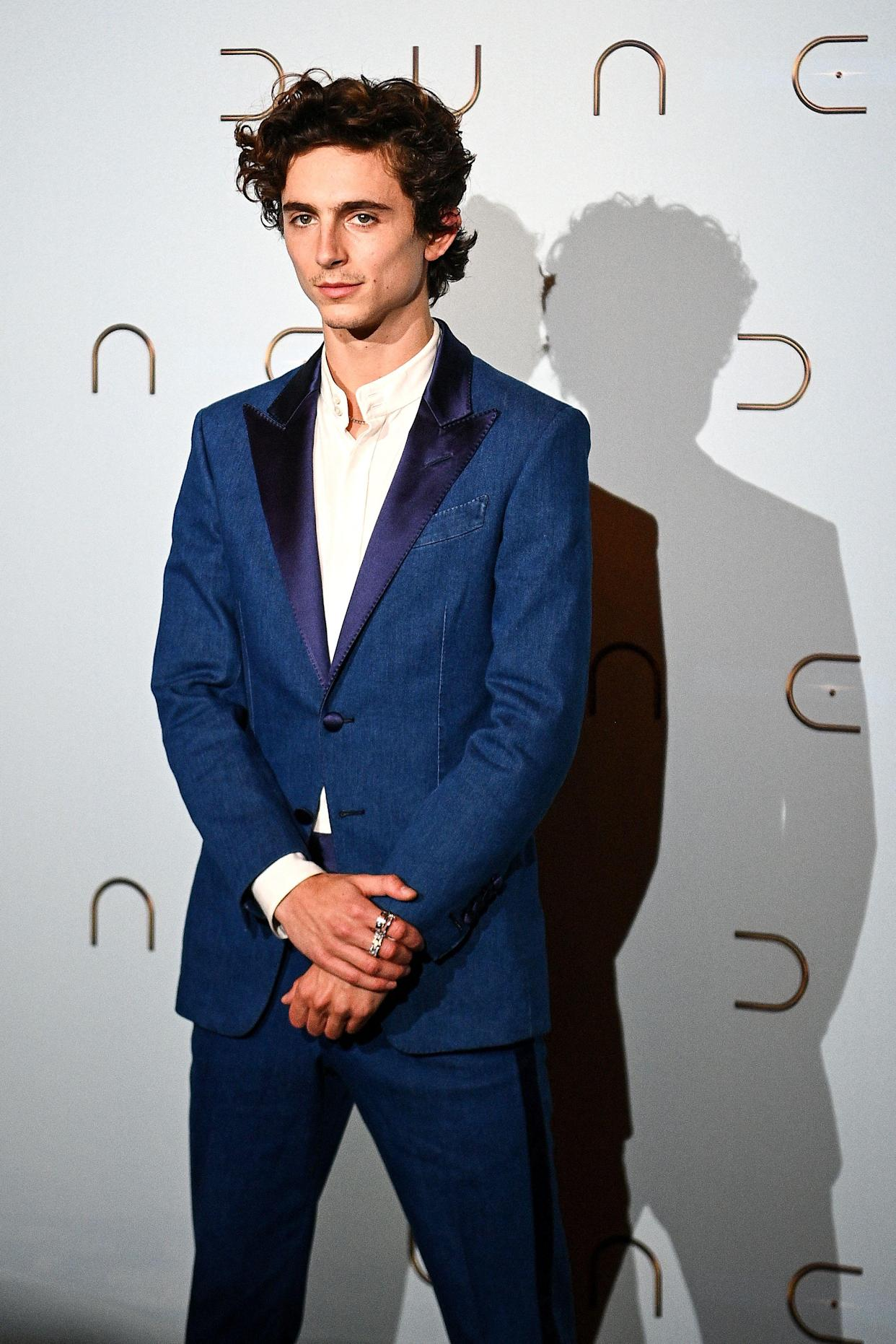 French-American actor Timothee Chalamet poses during a photocall ahead of the avant-premiere of the science-fiction movie