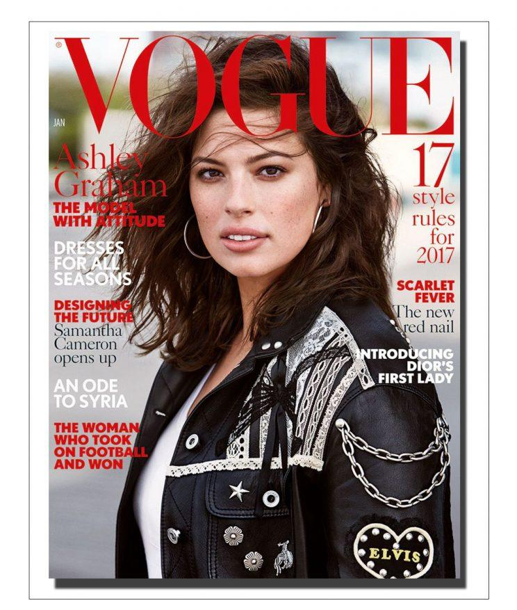 Ashley Graham has landed her first Vogue cover. (Photo: Vogue)