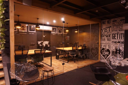 The Apollo 8 work spaces with a focus on open culture.