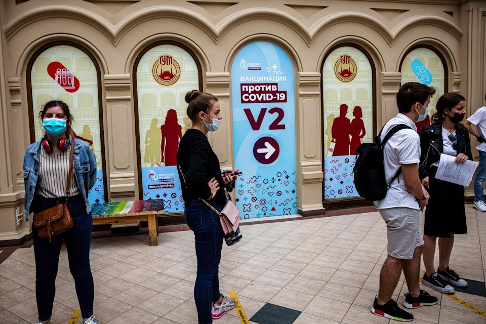 Vaccination in Russia is & # xe1;  going very slow.  (Photo by DIMITAR DILKOFF / AFP via Getty Images)
