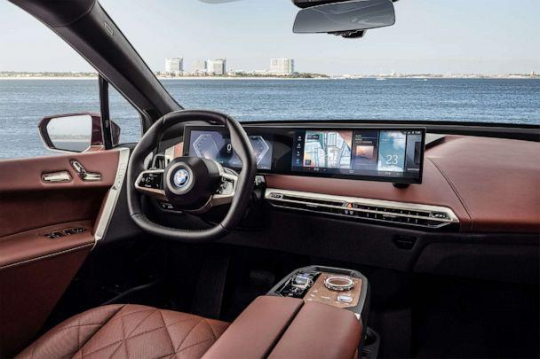 PHOTO: The modern interior of the all-electric BMW iX. (BMW)