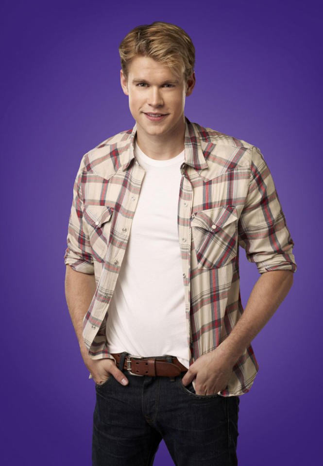 "Chord Overstreet as Sam in ""Glee."""