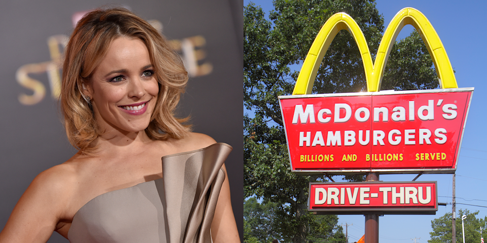 """<p>Before she was the Oscar-nominated actress who originated the role of Regina George, Rachel worked at McDonald's for three years. """"It was a great place to work, but I had a little bit of an OCD thing with hand washing and just didn't have time,"""" she <a href=""""https://www.glamour.com/story/rachel-mcadams-glamour-magazine-cover-interview-ok-we-love-this-girl"""" rel=""""nofollow noopener"""" target=""""_blank"""" data-ylk=""""slk:said"""" class=""""link rapid-noclick-resp"""">said</a>. """"They were like, 'Hey, the drive-thru's backing up. Stop washing your hands!' I was not a great employee; I broke the orange juice machine one day.""""</p>"""