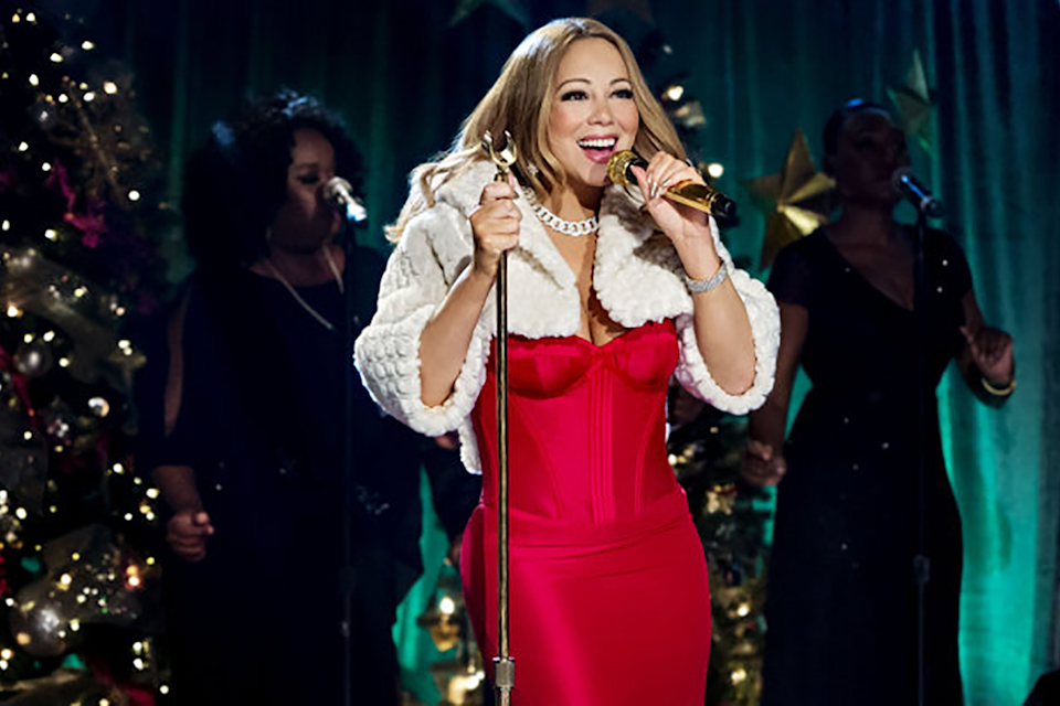 """<strong><em><h3>Mariah Carey's Merriest Christmas</h3></em><h3>, 2015</h3></strong><h3><br></h3><br>How does the official queen of Christmas celebrate? With her own holiday special, of course. Prepare for the most random of celebrity cameos (Lacey Chabert, Kelsey Grammar, and Babyface) and all the glitter a die-hard Mariah Lamb can handle.<br><br><strong>Watch On: </strong>Netflix<span class=""""copyright"""">Photo: Courtesy of The Hallmark Channel. </span>"""