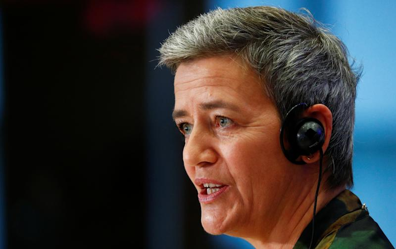 European Commissioner-designate for Europe Fit for Digital Age Margrethe Vestager of Denmark attends her hearing before the European Parliament in Brussels, Belgium October 8, 2019. REUTERS/Francois Lenoir