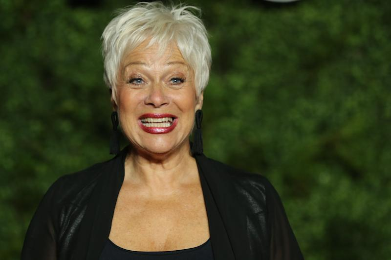 "British actress Denise Welch poses on the red carpet upon arrival for the World premiere of the television series ""The Crown - Series 3"" in London on November 13, 2019. (Photo by Isabel Infantes / AFP) (Photo by ISABEL INFANTES/AFP via Getty Images)"