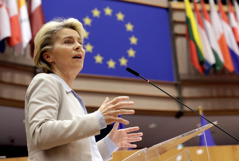 FILE PHOTO: Plenary session at the European Parliament in Brussels