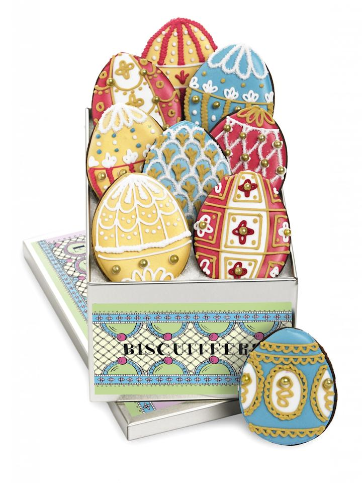 """<p><a rel=""""nofollow"""" href=""""https://www.biscuiteers.com/easter/easter-egg-mini-biscuit-collection""""><i>Biscuiteers, £35</i></a> </p>"""