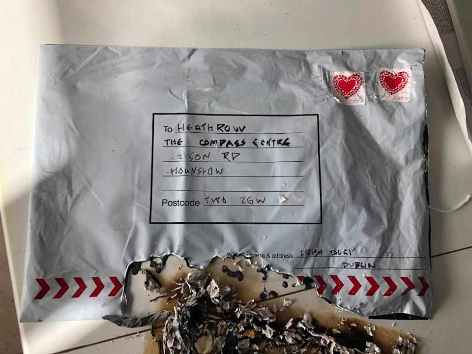 The package sent to Heathrow Airport (Picture: Metropolitan Police)