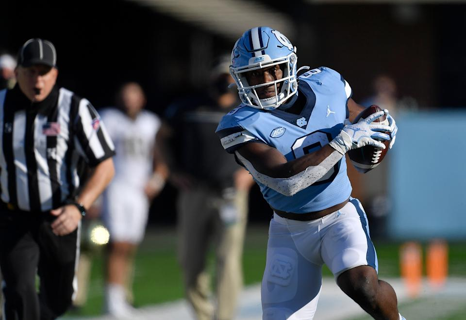 UNC's Michael Carter is a shifty, game-changing back. (Photo by Grant Halverson/Getty Images)