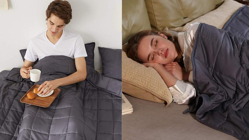 The ZonLi Weighted Blanket is on Sale as Amazon's Deal of the Day
