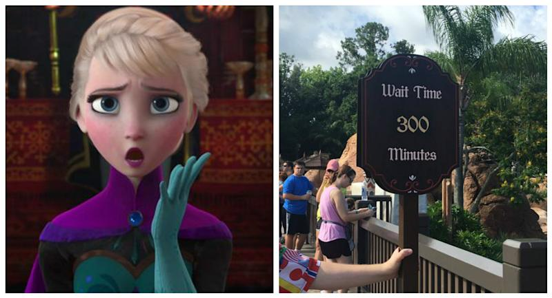 """The new """"Frozen"""" ride at Disney World is open and has a 300 minute wait – GOOD LUCK!"""