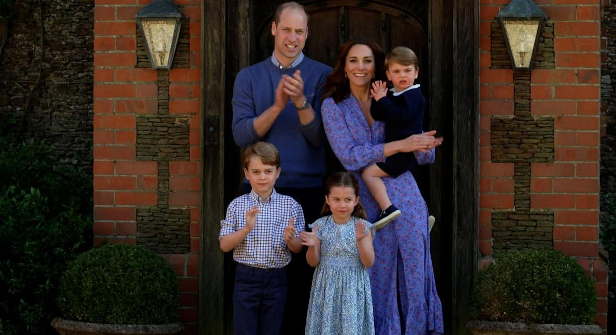 The Duke and Duchess of Cambridge are one of many prominent couples with a trio of offspring. (Getty Images)
