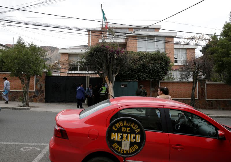 View of Mexico's embassy in La Paz