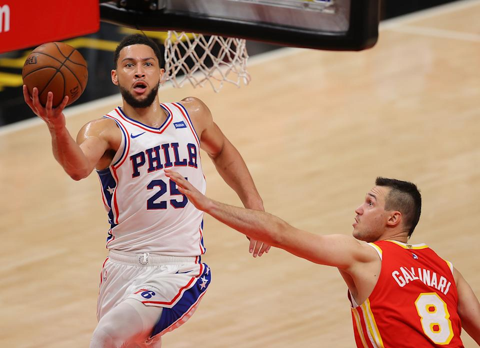 Ben Simmons and the Philadelphia 76ers had a step on the Atlanta Hawks all night. (Kevin C. Cox/Getty Images)