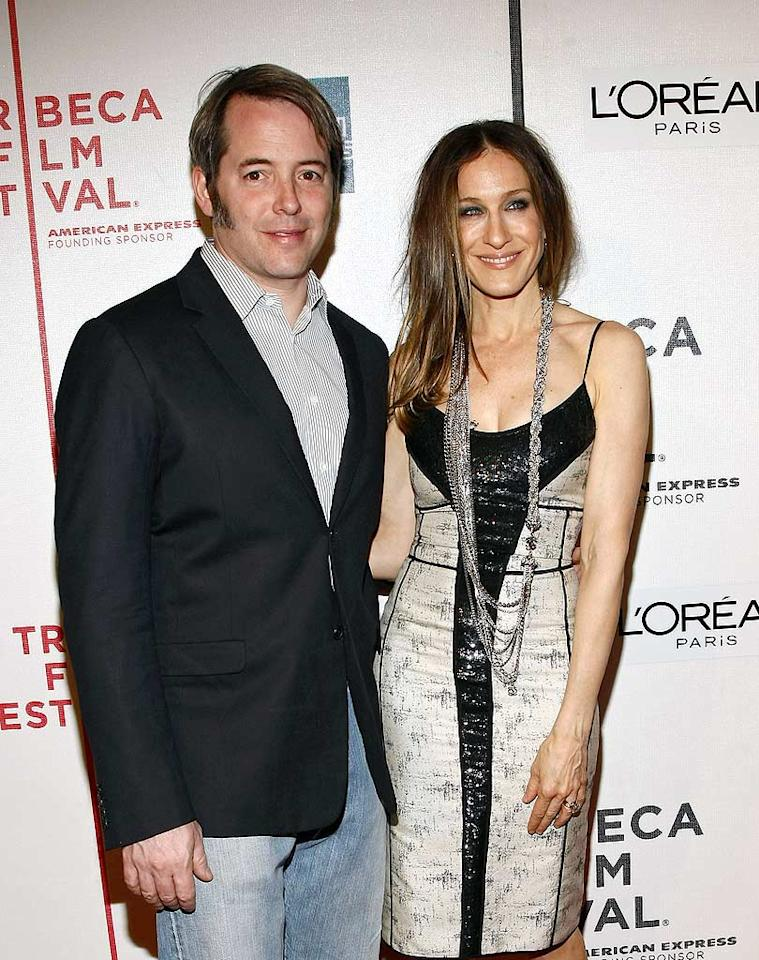 """Despite rumors of infidelity, Matthew Broderick and Sarah Jessica Parker are anticipating the birth of twin babies later this summer. They also have a 6-year-old son named James Wilkie. Brian Ach/<a href=""""http://www.wireimage.com"""" target=""""new"""">WireImage.com</a> - April 17, 2009"""