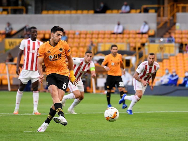 Raul Jimenez calmly puts Wolves in front from the spot: Getty
