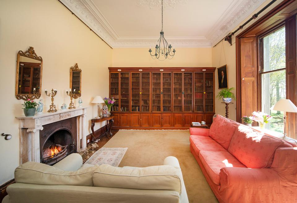 Original features like Italian marble fireplaces can be seen throughout the house (Knight Frank)