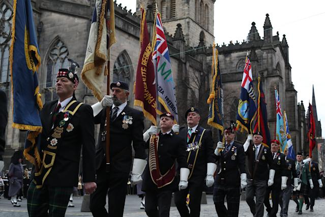 Veterans across the country marked Remembrance Sunday on November 10 (Picture: PA)