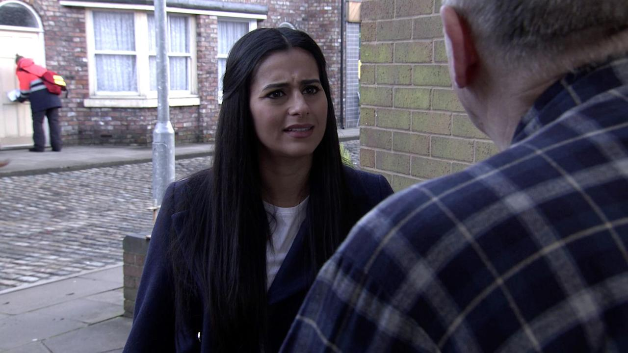 <p>She's keen to find out why Yasmeen was crying in the back garden last week.</p>