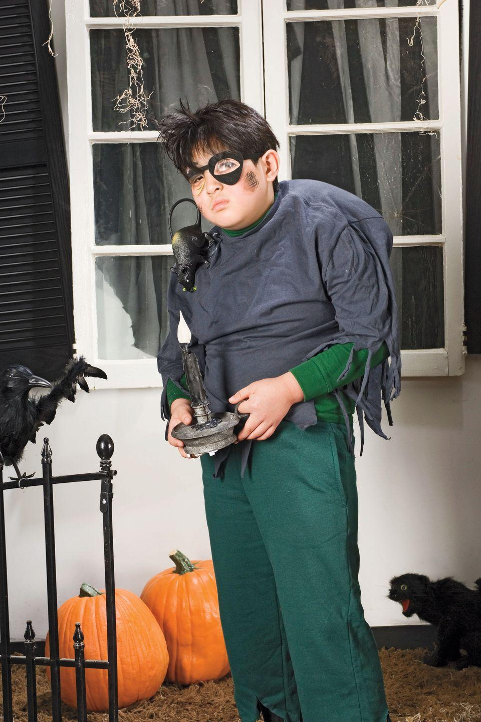 """<p>He can dress up as the famous hunchbacked lab assistant using heavy socks, a hot-glue gun, and a pillow form.</p><p><a href=""""https://www.womansday.com/home/crafts-projects/how-to/a4334/halloween-costume-hunchback-98812/"""" rel=""""nofollow noopener"""" target=""""_blank"""" data-ylk=""""slk:Get the Igor tutorial."""" class=""""link rapid-noclick-resp""""><strong><em>Get the Igor tutorial.</em></strong></a></p>"""