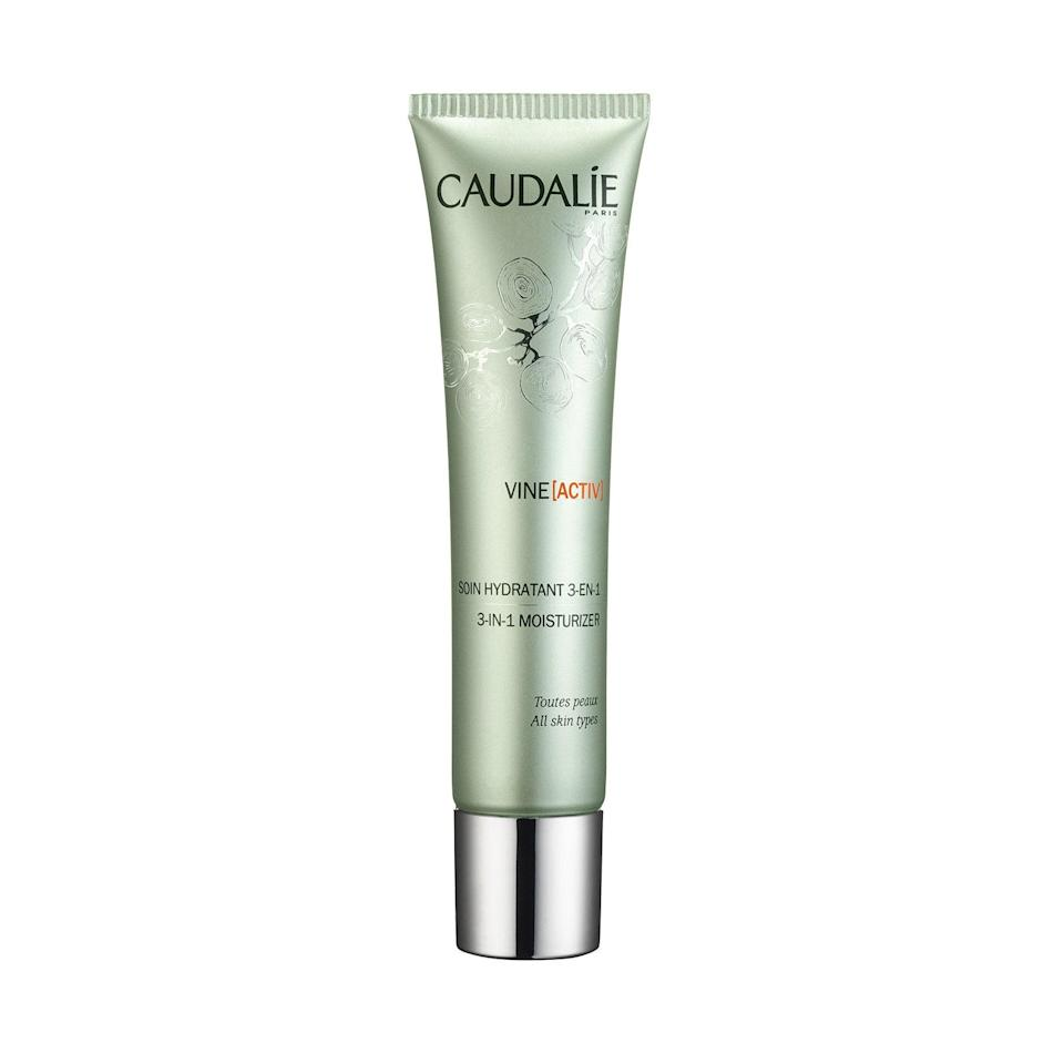 """<p>The whisper-light Caudalie VineActiv 3-in-1 Moisturizer — made with ascorbyl tetraisopalmitate, a stabilized form of vitamin C — absorbs on the spot to protect skin from dirt, smog, and whatever else is cooking up on the subway platform. And this wonder product also has moisturizer and vitamin E (which will smooth the appearance of fine lines). Rub it in and reap the benefits.</p> <p><strong>$44</strong> (<a href=""""http://shop-links.co/1605504203747405990"""" rel=""""nofollow noopener"""" target=""""_blank"""" data-ylk=""""slk:Shop Now"""" class=""""link rapid-noclick-resp"""">Shop Now</a>)</p>"""