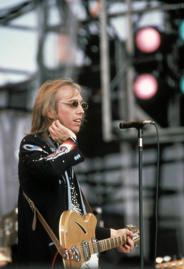 Tom Petty at Live Aid. (Photo by Ebet Roberts/Redferns/Getty Image)