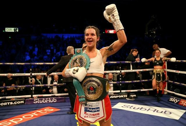 Terri Harper held onto the WBC and IBO super-featherweight belts after the draw with Natasha Jonas