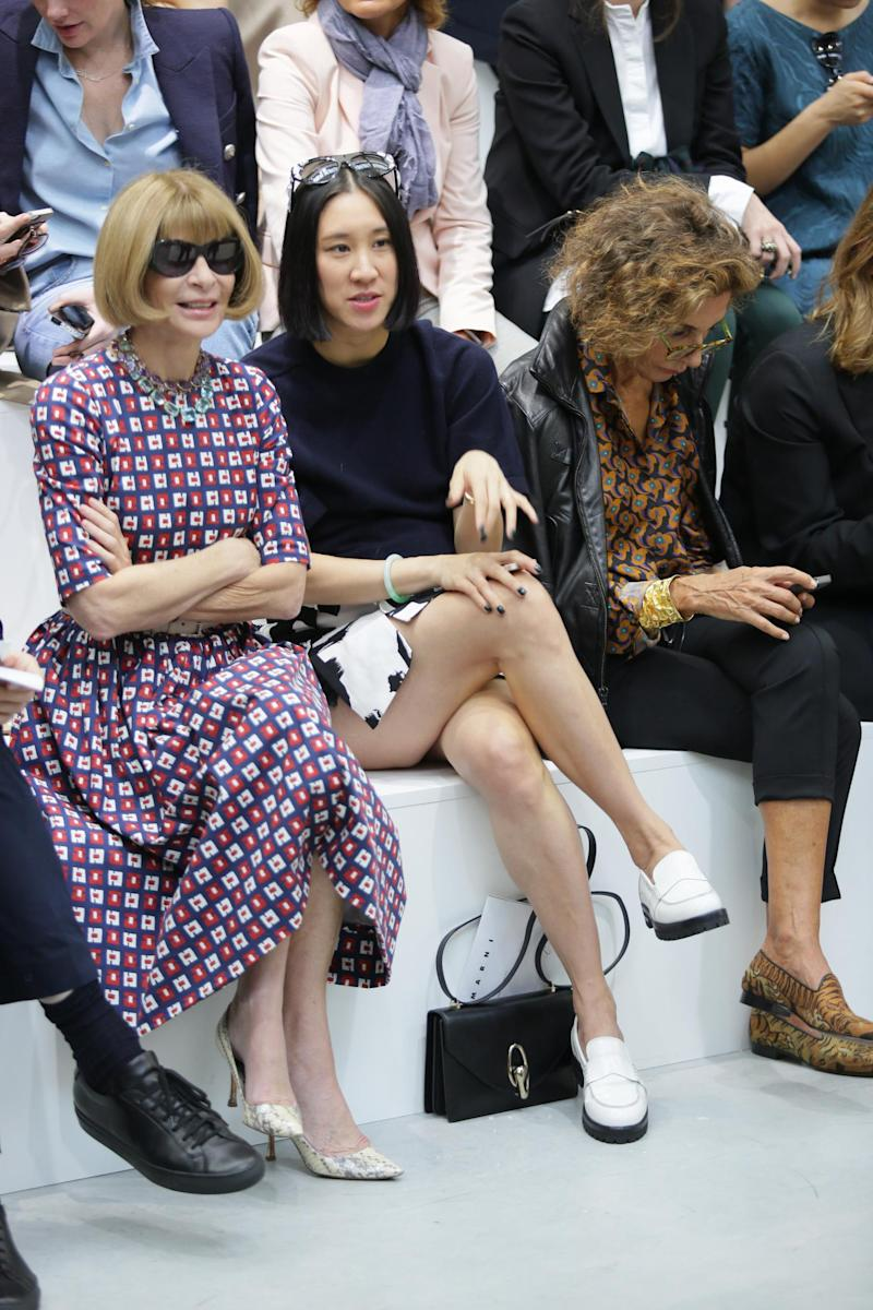 With Anna Wintour at Milan Fashion Week 2015 (Getty Images )