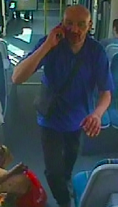The pregnant woman was allegedly attacked by the suspect on the Clifton South tram in Nottingham on 20 July. (SWNS)