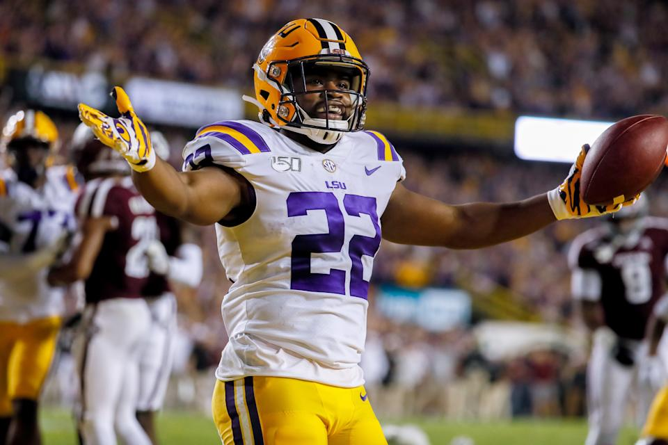 LSU Tigers running back Clyde Edwards-Helaire