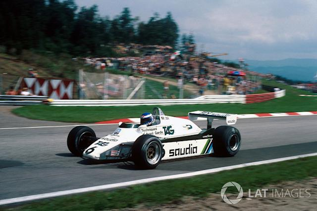 """Keke Rosberg, Williams Ford-Cosworth FW08, 1982 <span class=""""copyright"""">Sutton Motorsport Images</span>"""