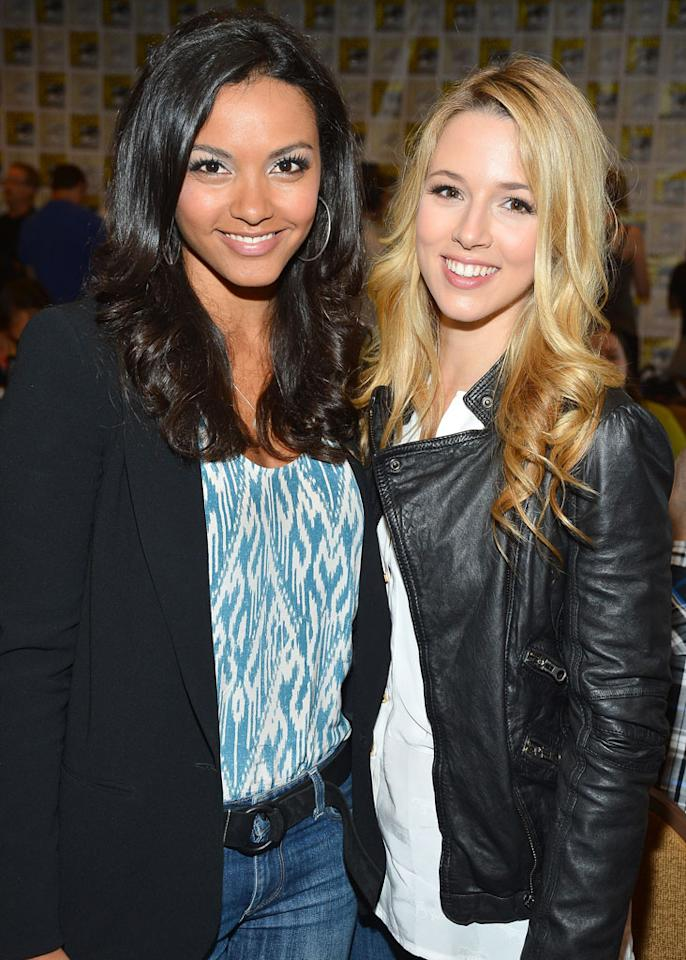 "Actresses Jessica Lucas and Alona Tal attend the ""Cult"" panel during Comic-Con International 2012 held at the Hilton San Diego Bayfront Hotel on July 13, 2012 in San Diego, California."