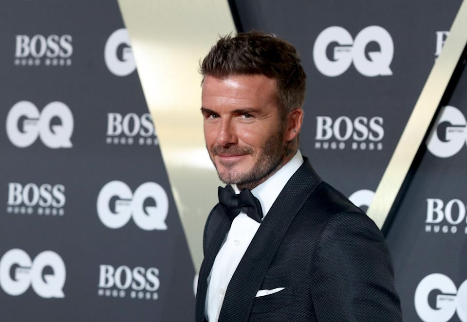 LONDON, ENGLAND - SEPTEMBER 03:  David Beckham attends the GQ Men Of The Year Awards 2019 at Tate Modern on September 03, 2019 in London, England. (Photo by Mike Marsland/WireImage)