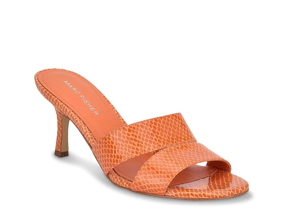 <p>Wear these <span>Marc Fisher Queta Sandals</span> ($60) with jeans and a white top.</p>