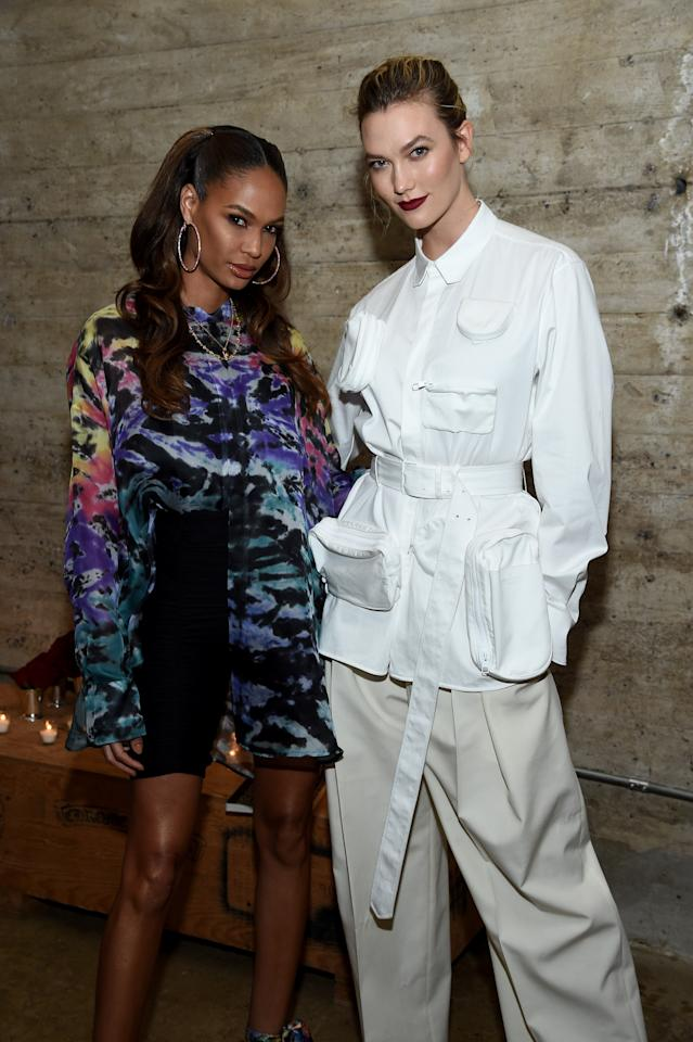 Joan Smalls and Karlie Kloss attend the Louis Vuitton Dinner Mens SS19 Temporary Residency on January 09, 2019 in New York City.
