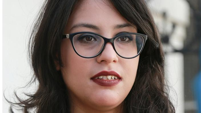 Emna Charqui, seen here in May, said she never intended to shock, only to amuse