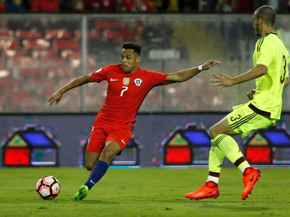 Sanchez is now Chile's joint top scorer (Getty)
