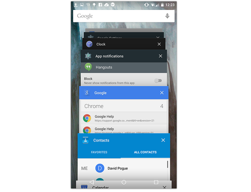 Android Lollipop app switcher