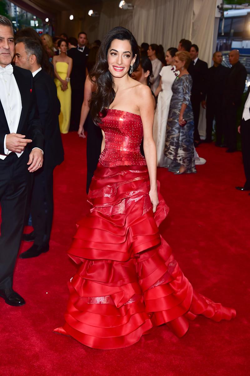 Amal Clooney attends the 'China: Through The Looking Glass' Costume Institute Benefit Gala at Metropolitan Museum of Art on May 4, 2015 in New York City.