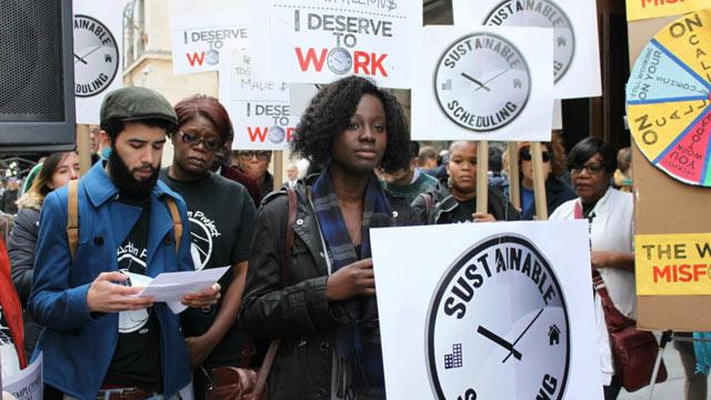 Workers Protest 'Abusive' Scheduling