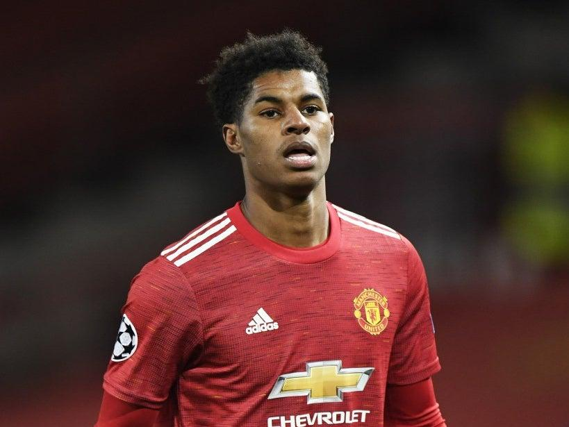 <p>The Manchester United and England striker Marcus Rashford has successfully campaigned for free school meals to be made available during school holidays</p>EPA