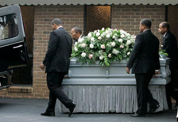 PHOTO: Pallbearers bring out the casket of Kathryn Johnston after her funeral service, Nov. 28, 2006 in East Point, Ga. (John Amis/AP, FILE)