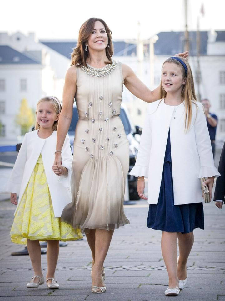 Princess Mary with daughters Isabella