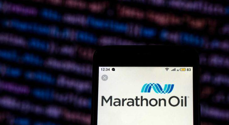 Marathon Oil (MRO) Loko at the top of a mobile device.